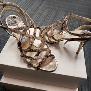 Jimmy Choo snake print heels